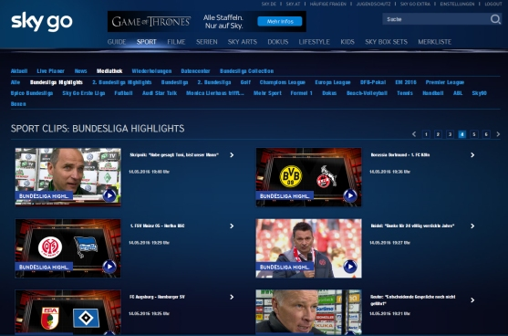 SkyGo Bundesliga Screenshot